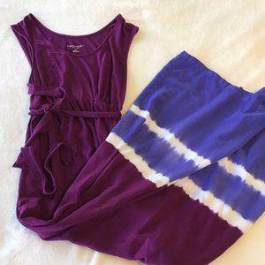 Liz Lange Maternity Purple & Blue Maxi Dress - Med